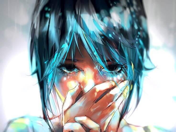 Dziewczyna zasłaniająca usta, by nie powiedzieć zbyt wiele.
