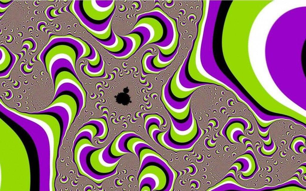 Iluzja - kręcące się kolory.