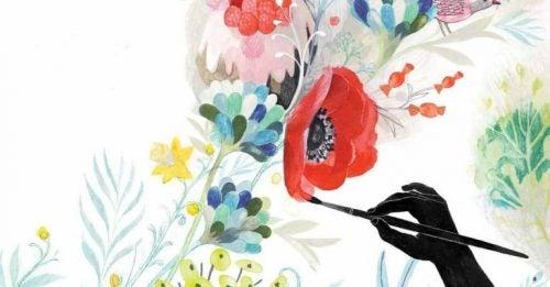 Kwiaty obraz malowany pastelami