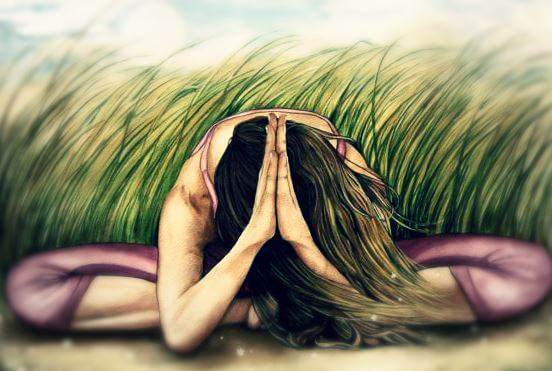 modląca się kobieta