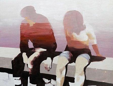 Para siedzi na murku