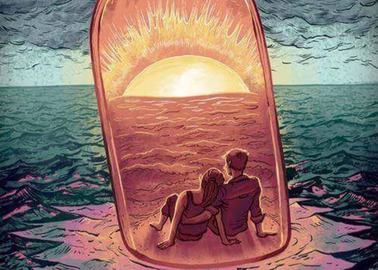 miłość - para na morzu