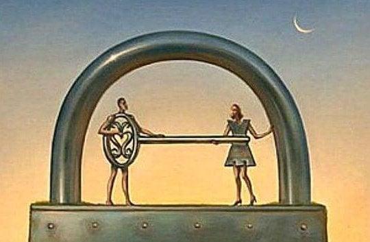 Powierzchowne relacje - para klucz-zamek
