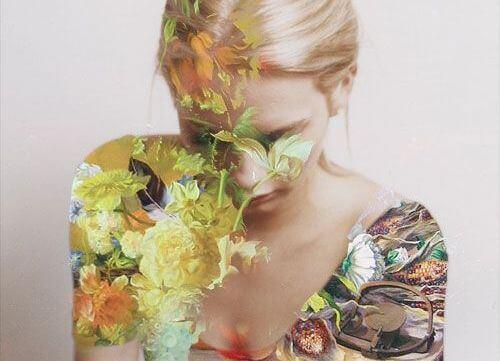 kobieta we kwiatach