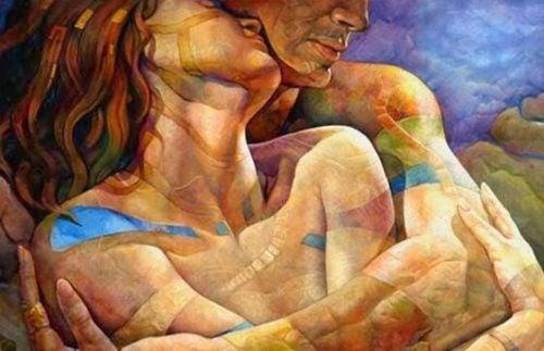 Prawdziwa miłość - para w uścisku