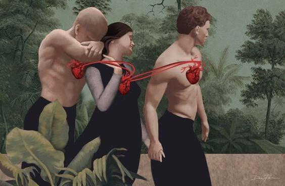 miłość trójkąt
