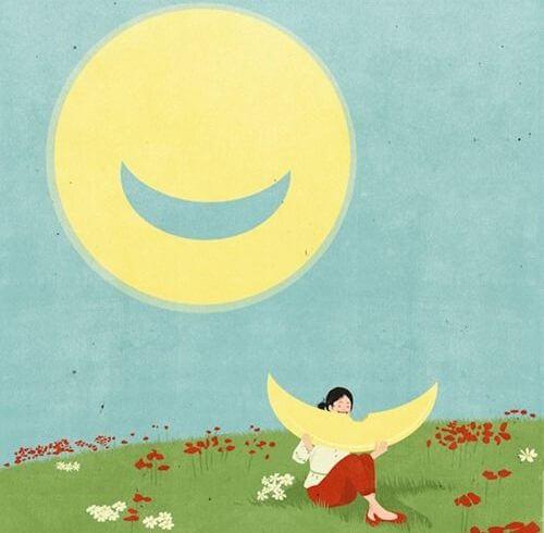 Uśmiechnięte słoneczko.