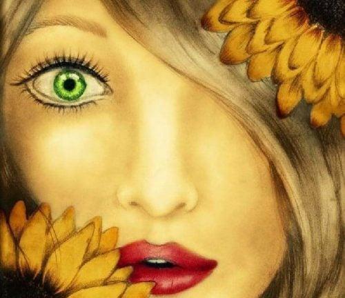 Magiczni ludzie - zielone oko dziewczyny