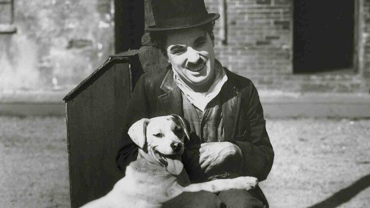 Charles Chaplin z psem