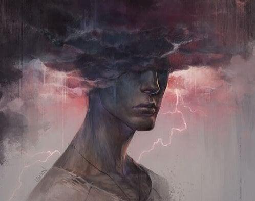 Mężczyzna - burza.