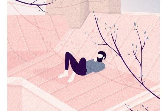 znajomość siebie - mężczyzna rozmyśla na dachu