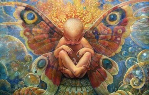Powiedz mi, jak sie urodziłem. Dziecko ze skrzydłami.