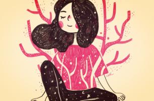 Poczucie własnej wartości - dziewczyna w różowej sukience.