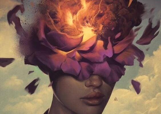 kwiat w głowie