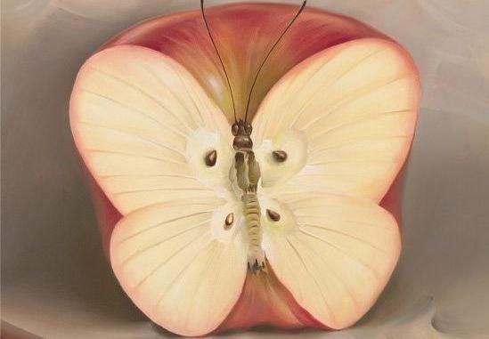 Jabłko motyl.
