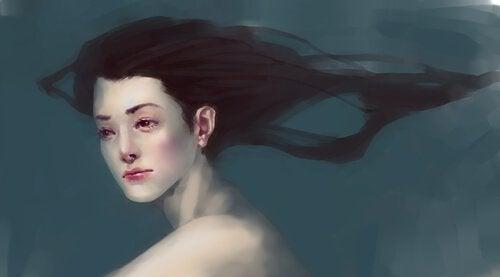 Kobieta pod wodą.
