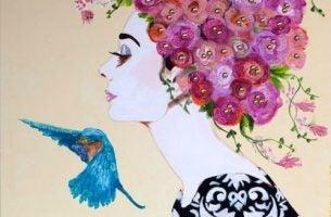 Kobieta z ptakiem - nadchodzące zmiany