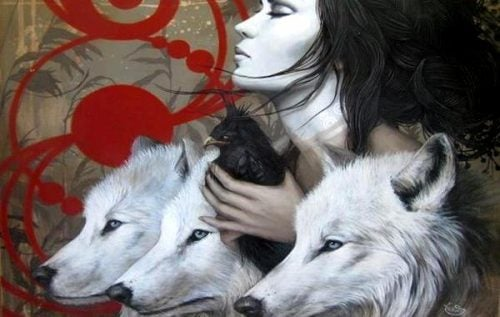 Kobieta i wilki
