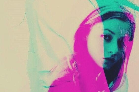 Kolorowa dziewczyna.