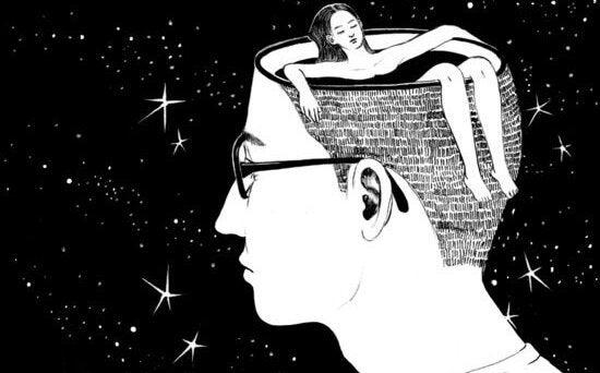 Kobieta w mózgu mężczyzny.