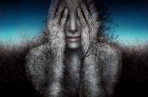 Smutna osoba - oszukiwanie siebie