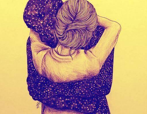 miłość - przytulenie