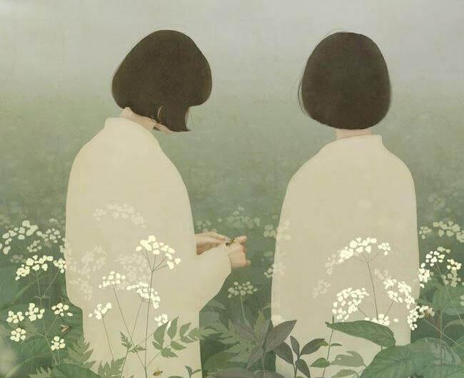 Dwie kobiety na łące