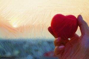 Serce i dłoń.