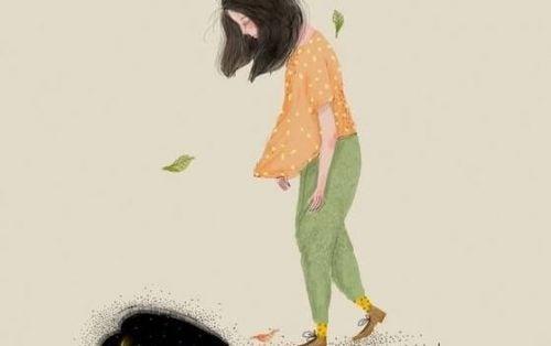 Zła postawa - smutna dziewczyna