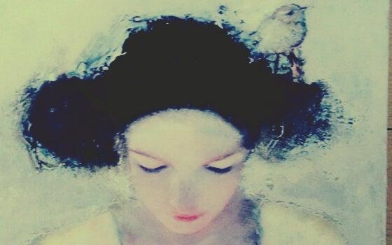 Smutna dziewczyna - emocjonalny wampir wyssał z niej energię.