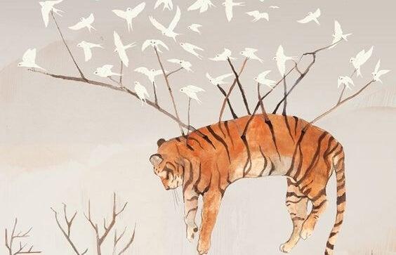 ptaki i tygrys