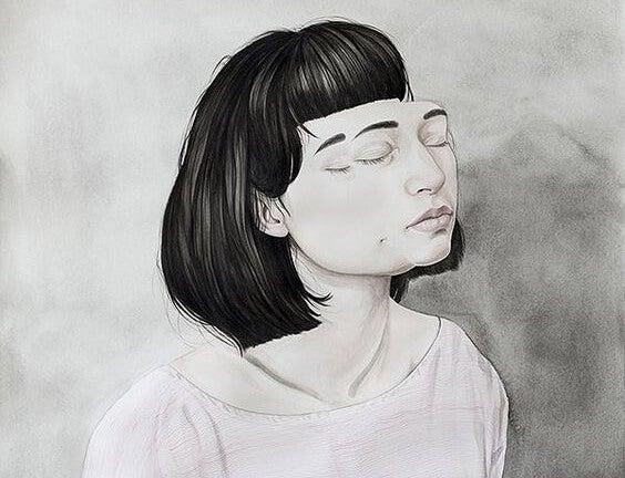 Zmęczona dziewczyna.