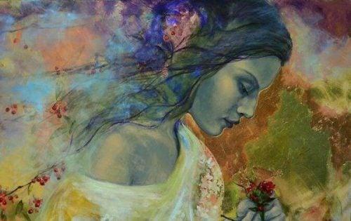 Abstrakcyjny obraz kobiety