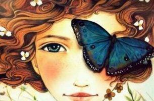dusza - dziewczyna motyl