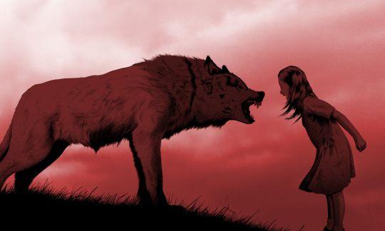 Dziewczynka z wilkiem