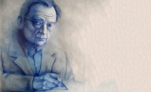 Erich Fromm - portret.