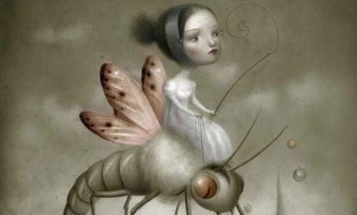Kobieta na robaku