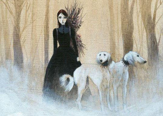 Kobieta i psy