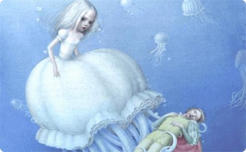 Podwodni ludzie fantazja