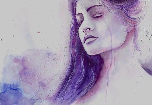 Pokonać smutek - kobieta płacze