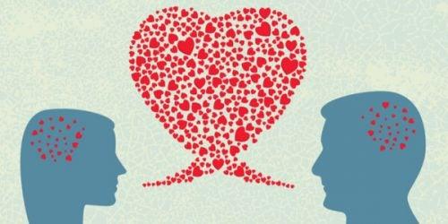Sapioseksualizm - rozmowa dwojga ludzi pośród serc
