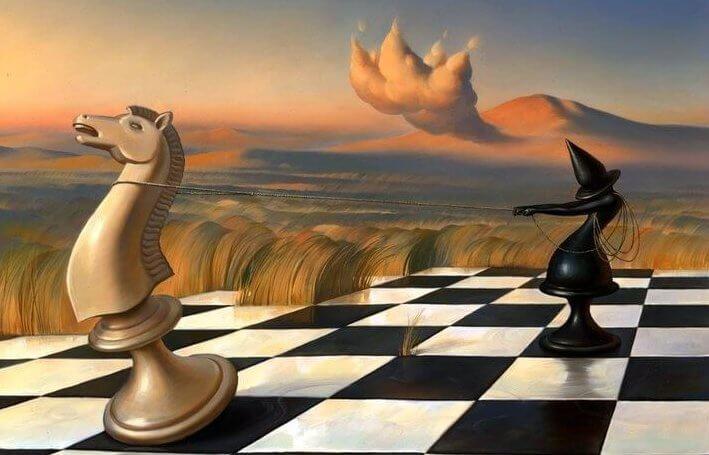 Surrealizm - szachy.