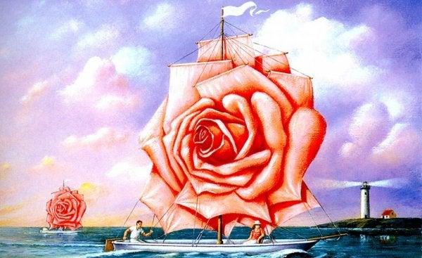 Żaglówka w kształcie róży.