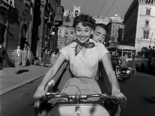 Audrey na rowerze