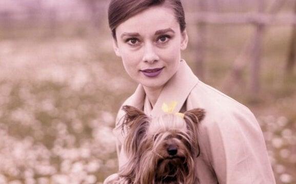 Audrey z psem