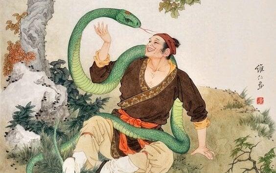 Człowiek z wężem
