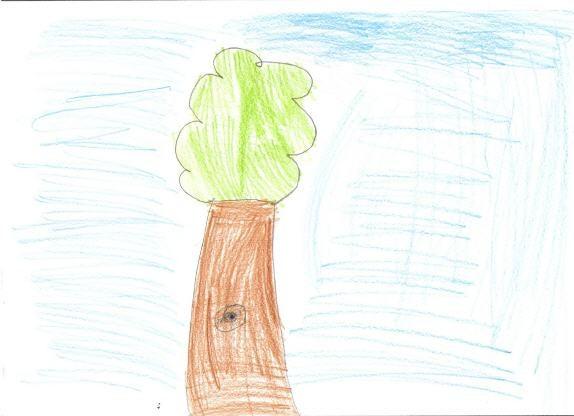 dziecięcy rysunek drzewa