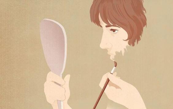 Kobieta malująca twarz
