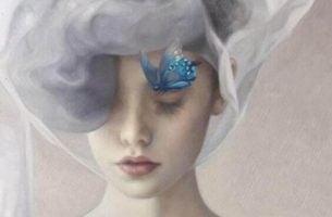 Kobieta myśląca o odpowiedzialności - historia motyla