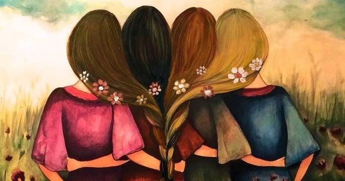 Cztery przyjaciółki.